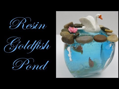 Resin Goldfish Pond With Swan