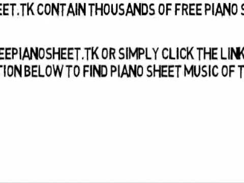 You Spin Me Round (Like a Record) - Dead Or Alive (Piano Sheet Music)