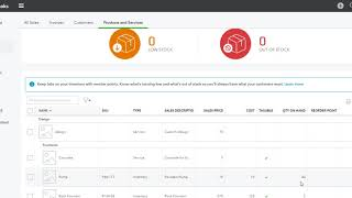 QBO QuickBooks Online - Purchase and Sell Inventory