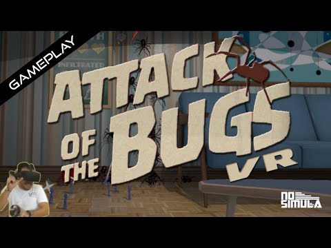 Attack to the Bugs VR - GamePlay