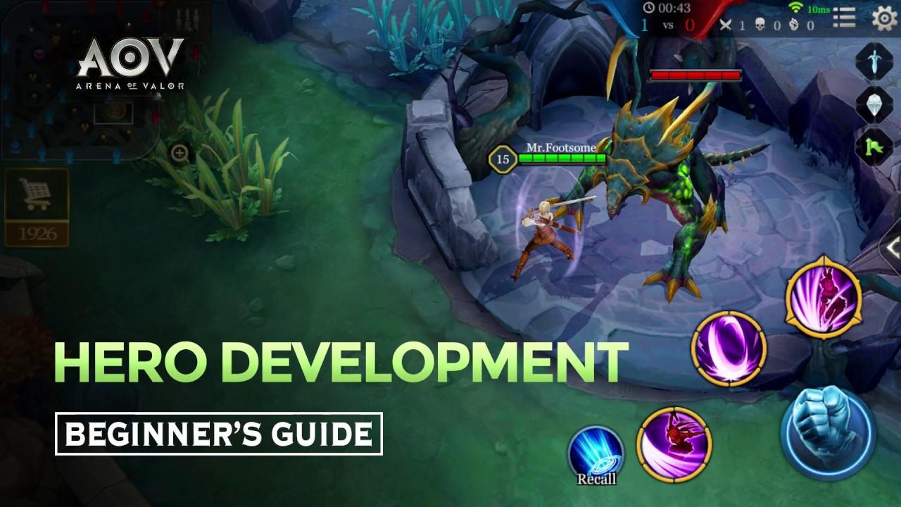 Garena Aov Arena Of Valor Beginners Guide Hero Development