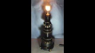 как сделать стимпанк светильник своими руками \  how to make a steampunk lamp
