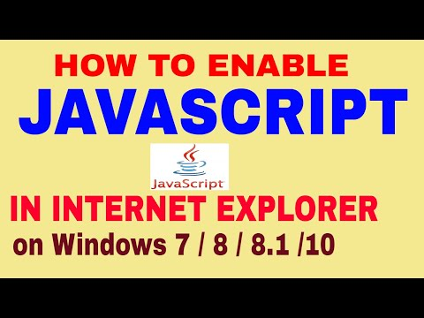 How To Enable Javascript In Internet Explorer |on Windows 7/8/8.1/10 | In Hindi | By RESEARCH HOUSE