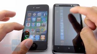 HTC HD7 vs Apple iPhone 4