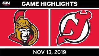 NHL Highlights | OTT Vs. NJ - Nov. 13, 2019