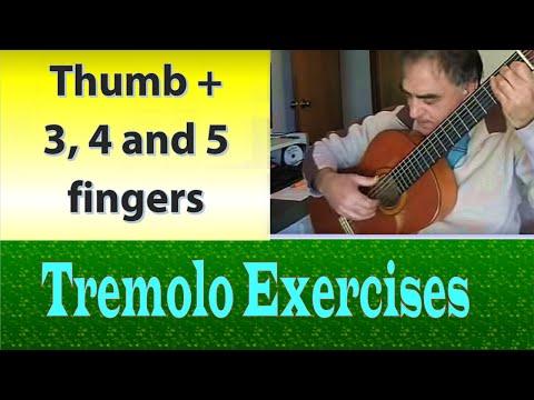 Tremolo Exercises - 3, 4, & 5 fingers