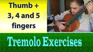 Tremolo Exercises - 3, 4, & 5 fingers