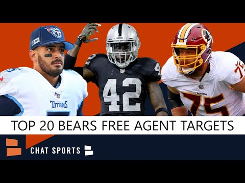 Bears Free Agency: Top 20 Players Chicago Should Target This Offseason Including Marcus Mariota