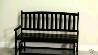 Pleasant Bay Glider Bench - Black - Product Review Video