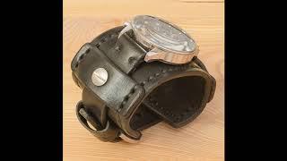Широкий кожаный ремешок для часов swiss military 17700