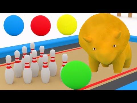 Download Youtube: Aprende los números y los colores jugando a los bolos con Dino el Dinosaurio | Aprender en español