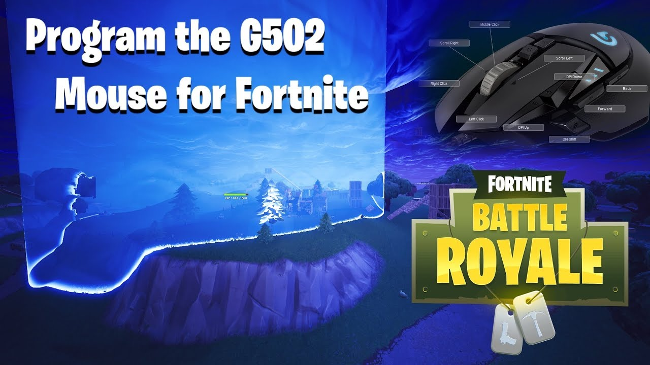 How to Program The Logitech G502 Mouse for Fortnite