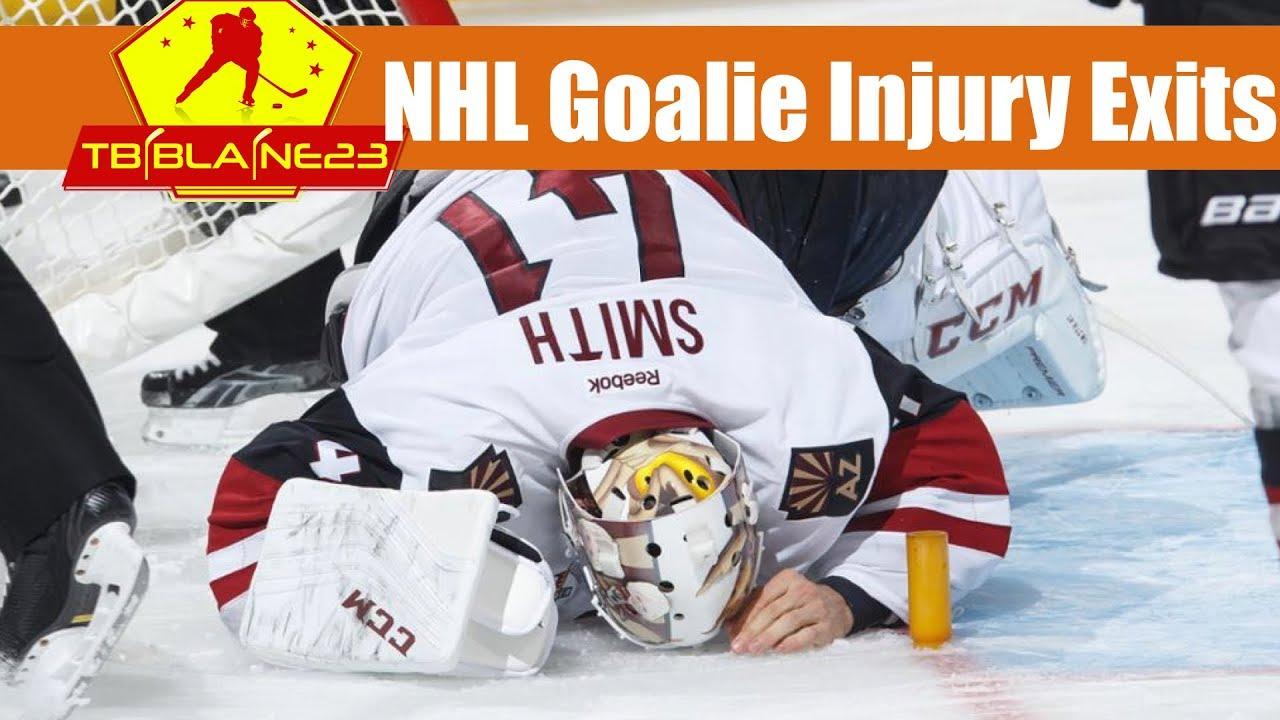 Nhl Goalie Injury Exits Youtube