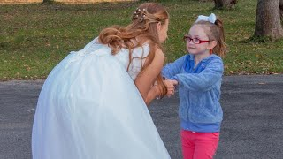 5-year-old girl with autism mistakes bride for Cinderella, has magical moment with kind stranger