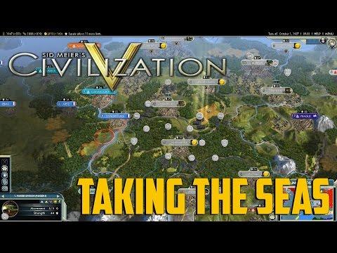 "Civ 5 #8 ""R.E.D. WWII Mod"" - Taking the Seas"