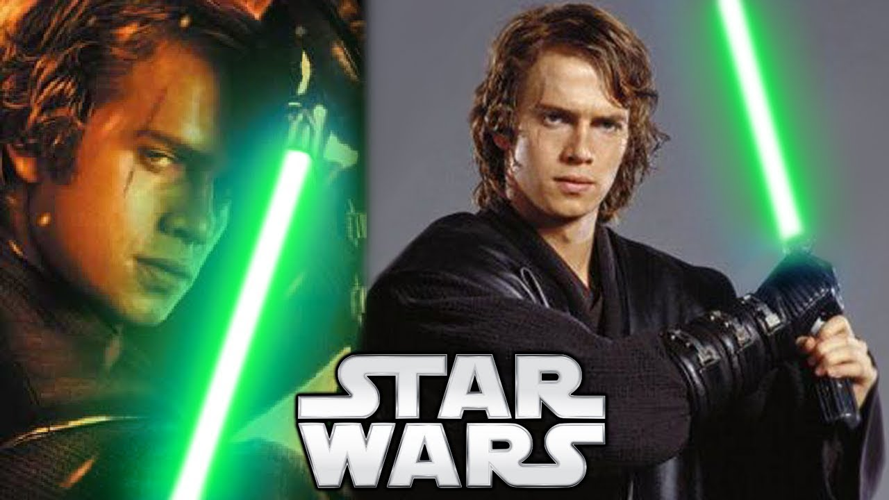 Why Anakin Skywalker Didn T Use A Green Lightsaber Star Wars Explained Youtube
