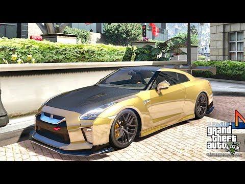 GTA 5 REAL LIFE MOD #386 MAFIA'S GOLD GTR !!! (GTA 5 REAL LIFE MODS)