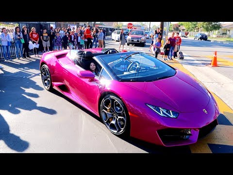 Picking up My Daughter From Elementary School In A Lamborghini | Familia Diamond