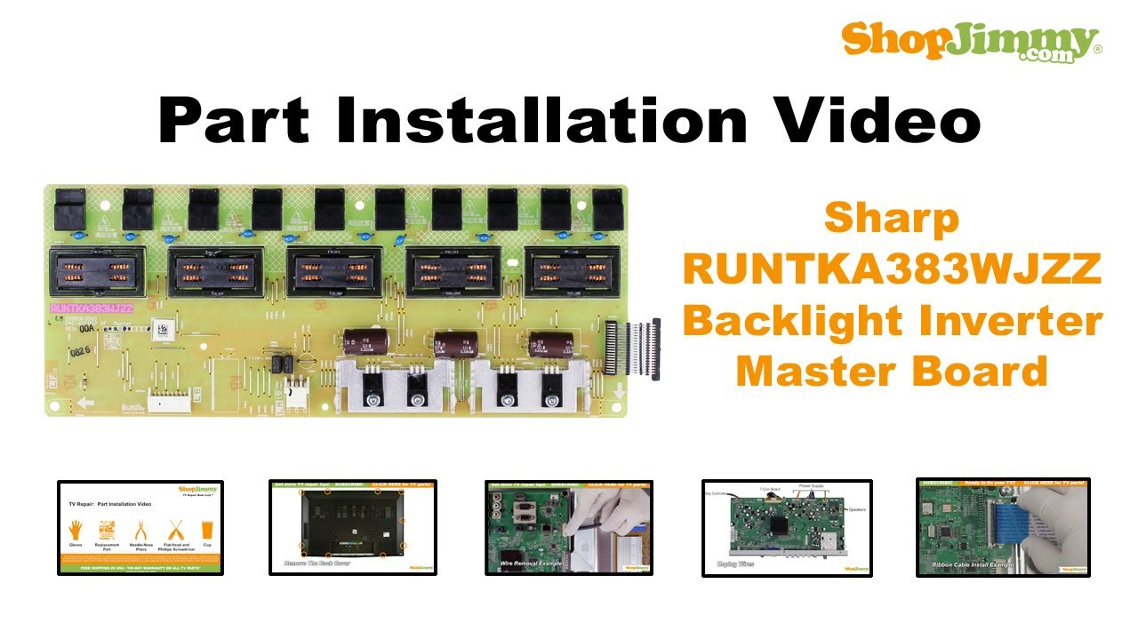 easy sharp runtka383wjzz backlight inverter master boards rh youtube com Sharp ManualsOnline Sharp ER-A170
