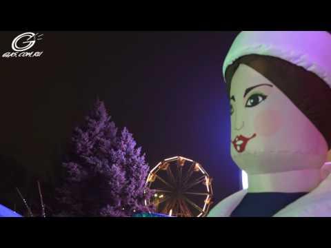 Как зажгли новогоднюю ёлку в Керчи