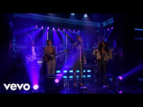 Maroon 5  What Lovers Do  On The Tonight Show Starring Jimmy Fallon2017 ft SZA