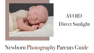 DIY Newborn photography at home, avoiding direct sunlight