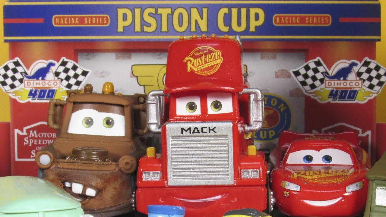 Cars Piston Cup Garage Story Sets Diecast Playset Disney
