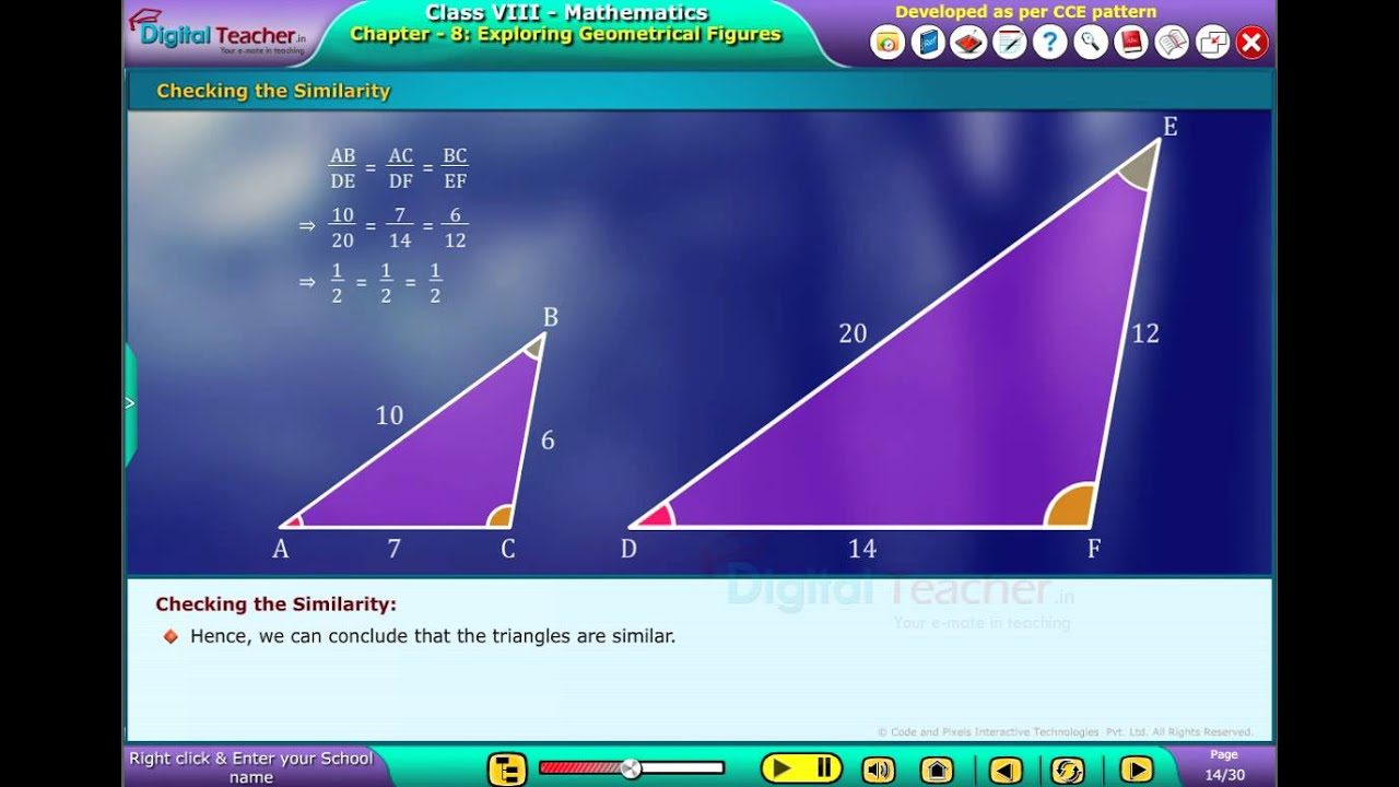 digital Teacher Code and Pixels k12 Maths Checking the Similarity ...