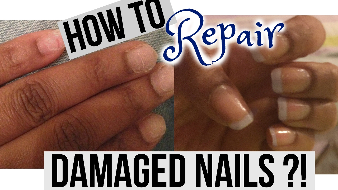 HOW TO REPAIR AND GROW WEAK & DAMAGED NAILS AFTER ACRYLICS - YouTube