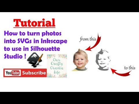 Turn Photos Into Svgs In Inkscape To Use In Silhouette Studio
