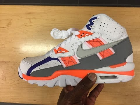 Quick Look At The Bo Jackson Nike Air Trainer SC High Auburn - YouTube b897137e5