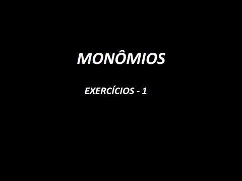Aula 8 Monomios Exercicio 1 Youtube