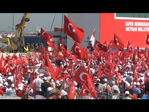 Massive Rally Gathered in Turkey in Protest of Failed Military Coup