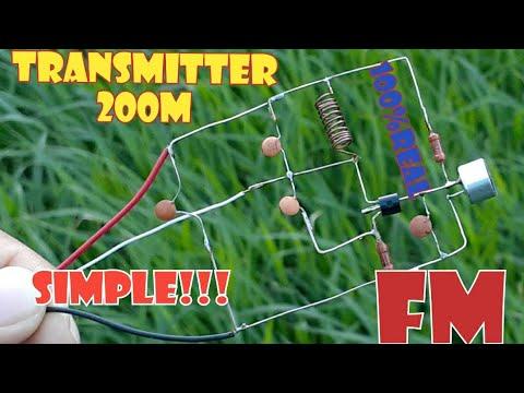 How Make 200 Mt Radio Transmitter    Мощный FM - ЖУЧОК НА 200 МЕТРОВ