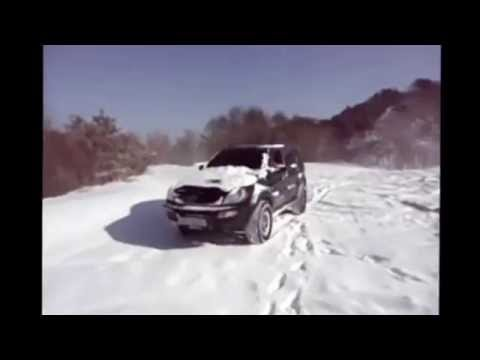 ssangyong rexton off road 4x4 snow drift youtube. Black Bedroom Furniture Sets. Home Design Ideas