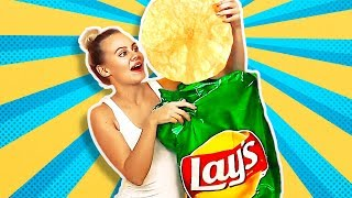 38 HILARIOUS PRANKS AND CRAFTS || GIANT LAY'S CHIPS thumbnail