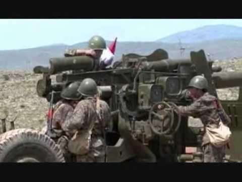 Armenian military D-20 & KS-19