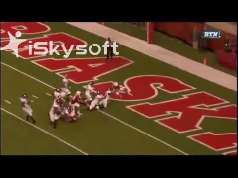 Nebraska hailmary win vs Northwestern Radio and Tv call