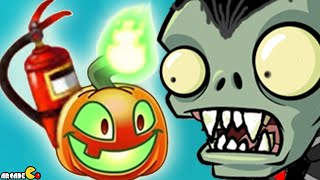 Plants Vs Zombies 2: Halloween Plants Jack O' Lantern Endless Challenge!