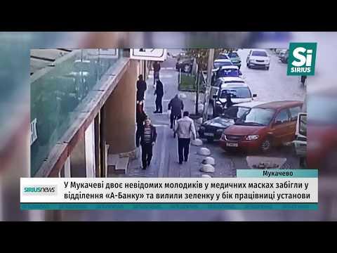 У Мукачеві двоє невідомих молодиків вилили зеленку у відділення «А-Банку»