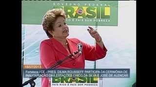 Com investimentos do PAC, duas estações do metrô de Fortaleza são inauguradas por Dilma Rousseff