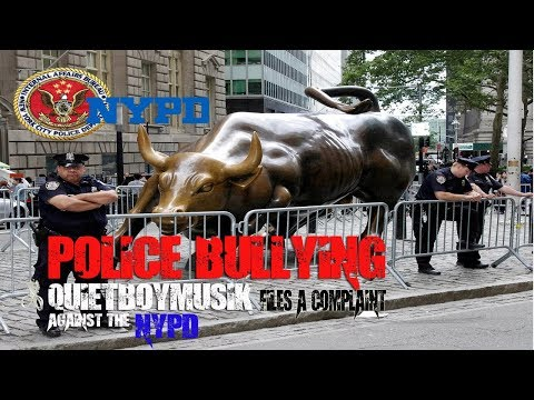 POLICE BULLYING QuietBoyMusik GOES TO NYPD INTERNAL AFFAIRS COMMAND CENTER CORRUPTION COMPLAINT