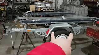 лафет для пвх лодки длиной 3,8м-4м (до транца), рама - 4,5м, оцинкованый