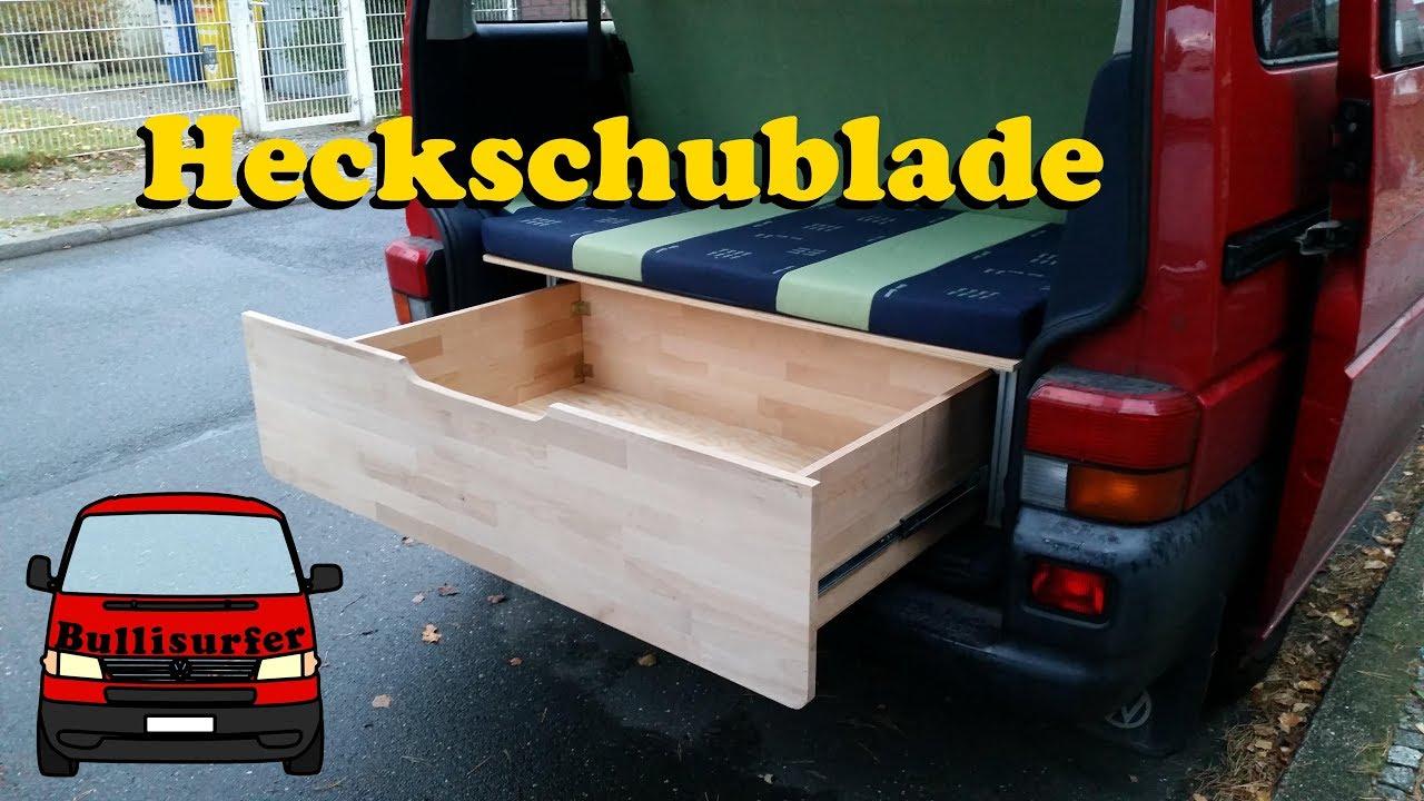 heckschublade f r den bulli bauen vw t4 umbau zum camper 06 youtube. Black Bedroom Furniture Sets. Home Design Ideas