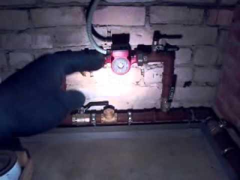 Отопление в доме 80 кв.м.,с естественной  циркуляцией и байпасом.