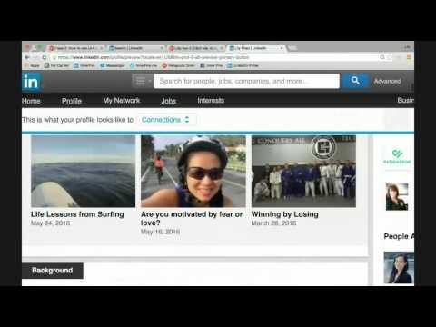 Lớp học 2: Cách xây dựng trang LinkedIn để xin việc làm