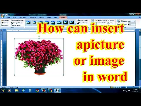 How can Insert a picture in MS Word?/ How can insert a image on Word file?