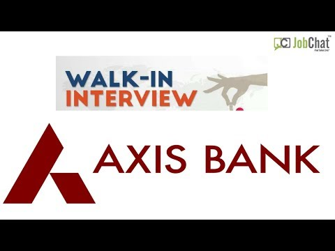 Axis Bank Job Opening July2018