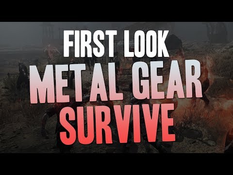 Metal Gear Survive (PC) - First Look Gameplay and Impressions (Single player early game)
