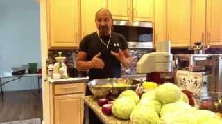Making The Best Homemade Sauerkraut With A Fermenting Crock